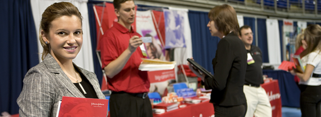 Photo:Penn State Career Fair student