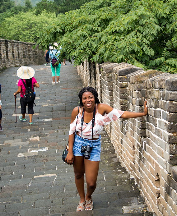Penn State student in Beijing, China.