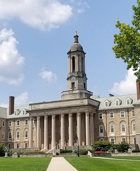 Penn State University Park Campus Exterior: Iconic Old Main Building